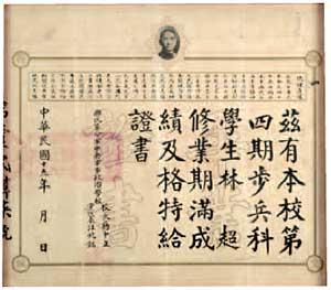 林超畢業證書