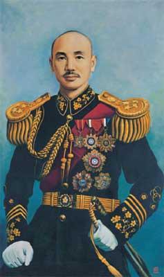 領導抗戰的蔣委員長
