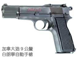 加拿大造9公釐白朗寧自動手槍