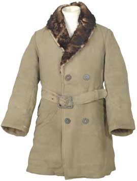東北軍黃色粗呢布獸毛內裏短大衣